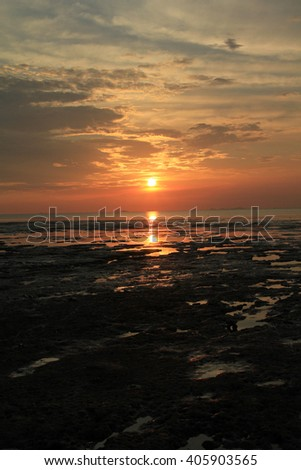 Low tide sunset