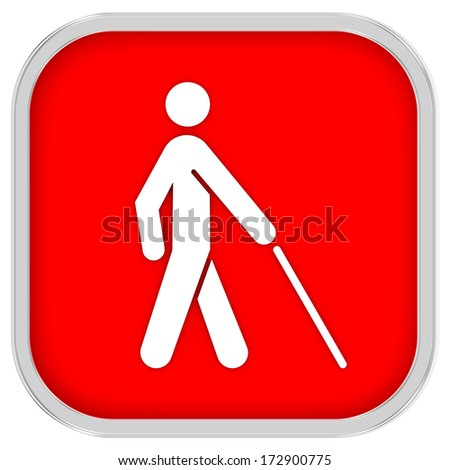 Low vision access  sign on a white background. Part of a series. - stock photo