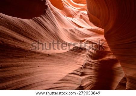 Lower Antelope Canyon - stock photo