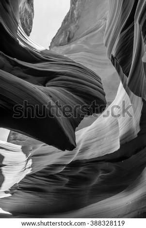Lower Antelope Canyon. Arizona. USA - stock photo