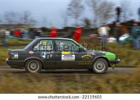 Lower Austria, Austria -Nov 8: Manfred Stohl wins the 27th Waldviertel Rallye in Lower Austria. Shown is German Driver Horst-Lars Mueller. 8th November 2008