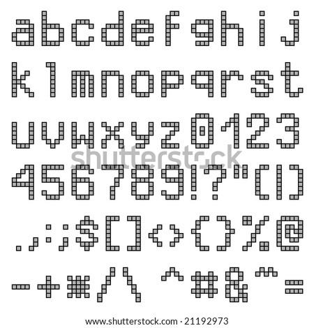 Lower Case Letters Pixel Font Stock Vector 19389136 - Shutterstock