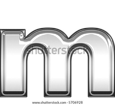 lower case m - stock photo