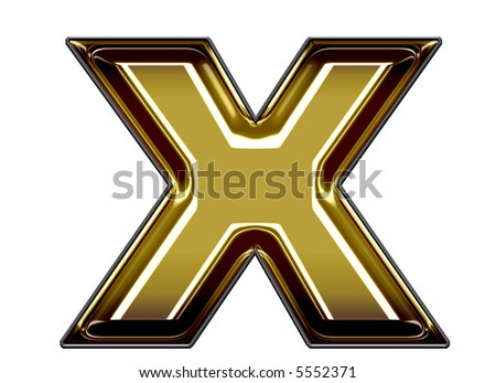 lower case X - stock photo