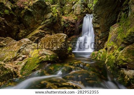 Lower Dick Creek Falls, Tennessee - stock photo
