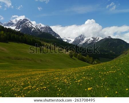 Lower Engadine in Switzerland - stock photo