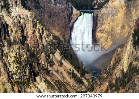 Lower Falls of the Yellowstone River in Yellowstone National Park