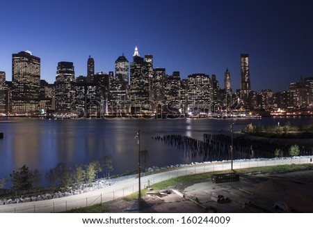 Lower Manhattan at Twilight