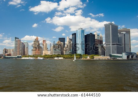 Lower Manhattan panorama in New York City