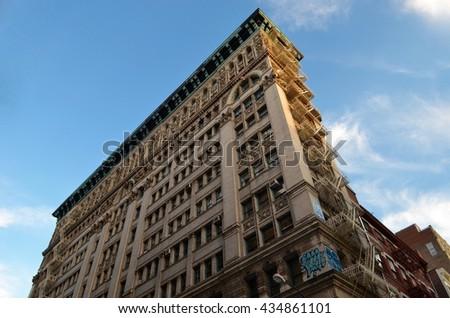 Lower Manhattan view, NYC, USA. - stock photo