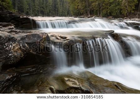 Lower McDonald Creek 1 in Glacier National Park - stock photo