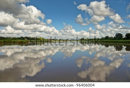 Lower Sabi River South Africa - stock photo
