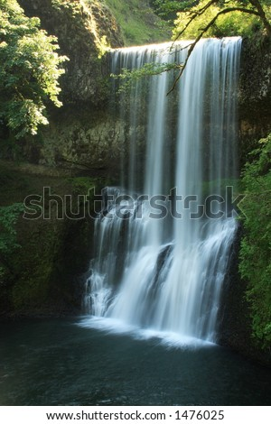 Lower South Falls - stock photo