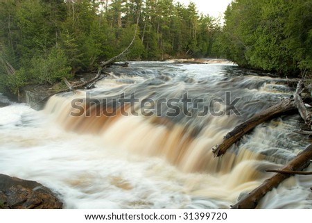 Lower Tahquamenon Falls, Michigan - stock photo