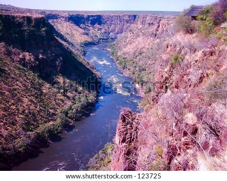 Lower Zambezi river - stock photo