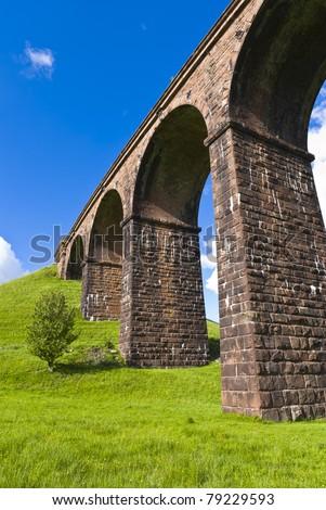 lowgill Railway Viaduct - stock photo