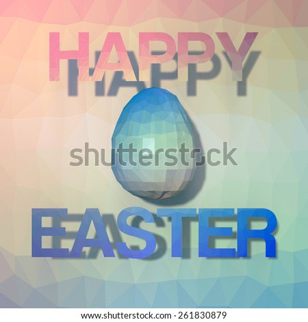 Loy Poly Easter Egg vintage  - stock photo