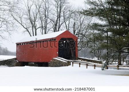 Loys Station Covered Bridge - stock photo