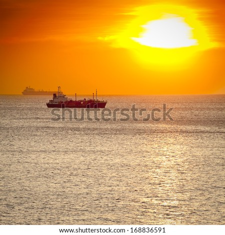 LPG Ship - stock photo