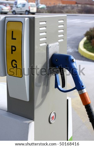 LPG station, liquified petroleum gas