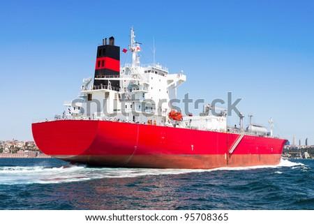 LPG Tanker Ship - stock photo