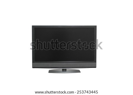 LSD TV isolated on a white background - stock photo