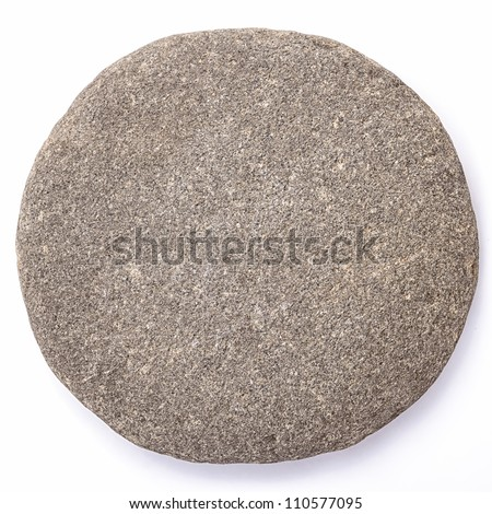Lsolated Pebble Stone (clipped path) - stock photo