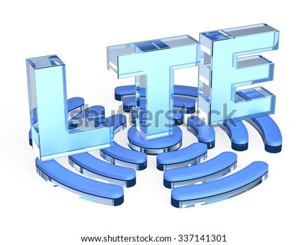 LTE (Long Term Evolution) sign - stock photo