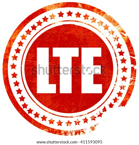 lte, red grunge stamp on solid background - stock photo