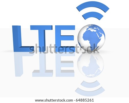 LTE Thechnology - stock photo