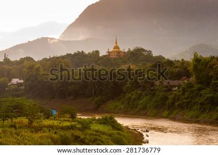 Luang Prabang, a city in north central Laos - stock photo