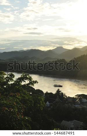 Luang Prabang Laos - stock photo