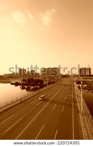 LUANNAN COUNTY - AUGUST 30: The North River bridge architecture, on August 30, 2013, LuanNan county, hebei province, China.