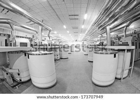 LUANNAN COUNTY - DECEMBER 20: The combed cotton production line and pipes in the ZeAo spinning LTD., on December 20, 2013, Luannan county, hebei province, China.