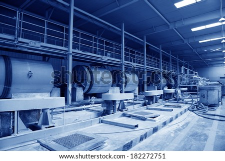 LUANNAN COUNTY - JANUARY 5: Ceramic semi-finished products parts on the iron frame, in the ZhongTong Ceramics Co., Ltd. January 5, 2014, Luannan county, Hebei Province, China.