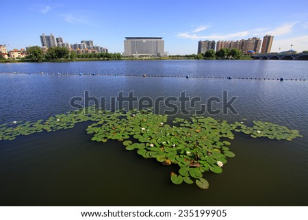 LUANNAN COUNTY - SEPTEMBER 3: city scenery in the North River Park, on september 3, 2014, Luannan County, Hebei Province, China