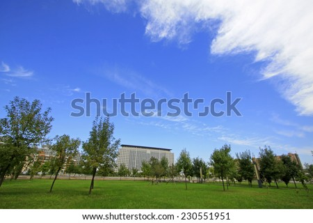 LUANNAN COUNTY - SEPTEMBER 15: Luannan county city scenery on September 15, 2014, Luannan county, Hebei Province, China