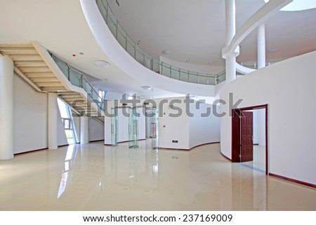 LUANNAN COUNTY - SEPTEMBER 18: stairs and pick in an art gallery on September 18, 2014, Luannan county, Hebei Province, China