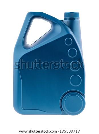 Lubricating oil bottle on white background - stock photo