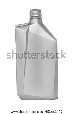 Lubricating oil can isolated on white background - stock photo