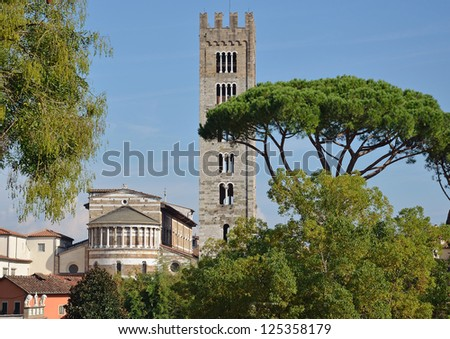 Lucca Italy - stock photo