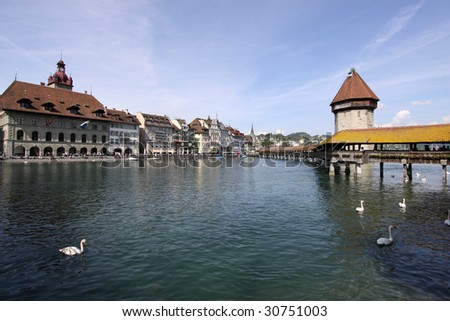 Lucerne, chapelbridge and water tower