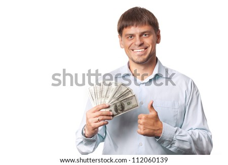 lucky come to the man - stock photo
