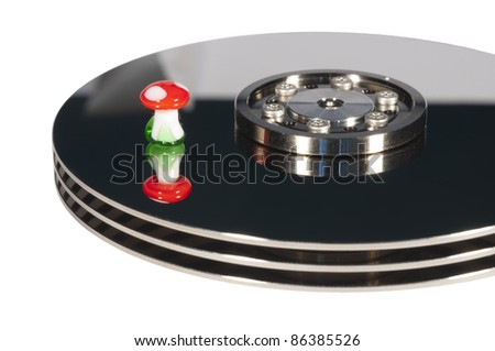 Lucky Harddrive - stock photo