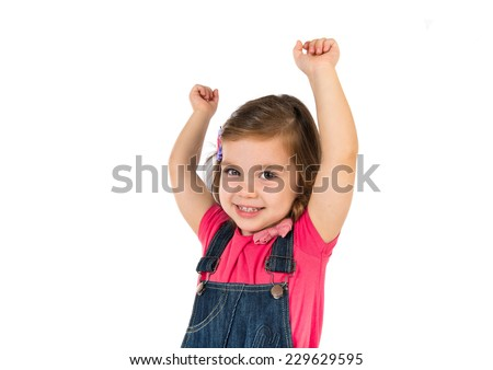 Lucky Kid over white background - stock photo