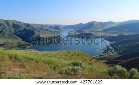 Lucky Peak Reservoir, Boise, Idaho - stock photo