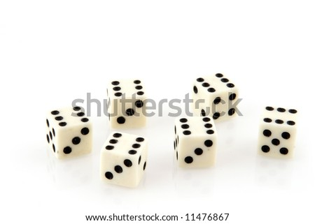 Lucky with gambling dices