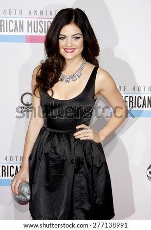 Lucy Hale at the 40th Anniversary American Music Awards held at the Nokia Theatre L.A. Live in Los Angeles, United States, 181112.