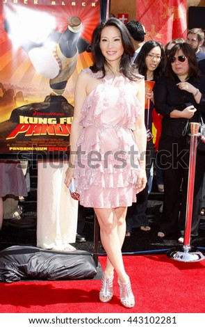 Lucy Liu at the Los Angeles premiere of 'Kung Fu Panda' held at the Grauman's Chinese Theater in Hollywood, June 1, 2008.