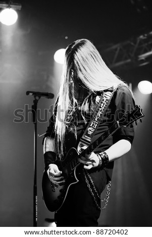 LUDWIGSBURG, GERMANY - NOVEMBER 6: Member of the rock group PUMP performs in concert at Swabia Rocks Festival Ludwigsburg on November 6, 2011 in Stuttgart, Germany